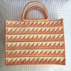 Wrapped/woven plastic handmade purse. A beauty!